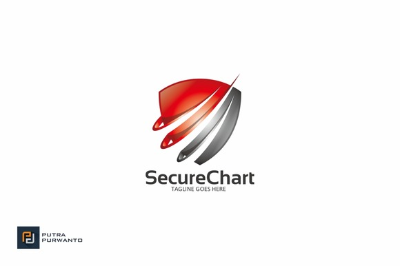 Secure Chart Logo Template
