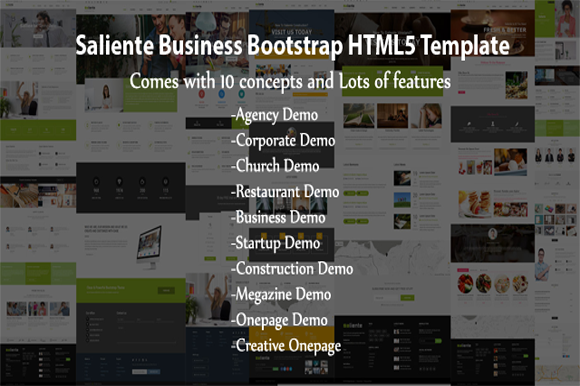 Saliente Business Bootstrap HTML5