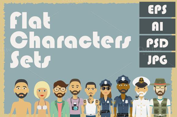Flat Characters Sets