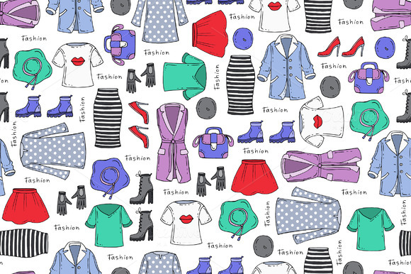 Pattern On The Theme Of Fashion