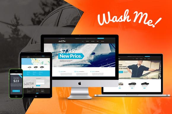 WashMe Car Wash Repair Theme
