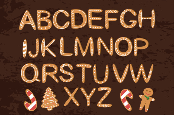 Christmas Cookies Alphabet