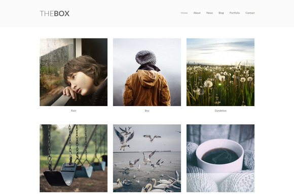 Thebox Portfolio WordPress Theme