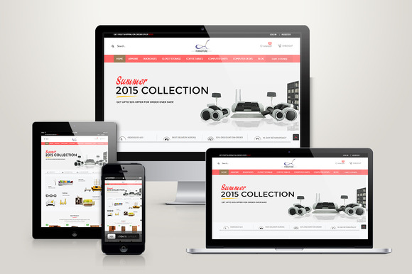 Responsive Magento Furniture Theme
