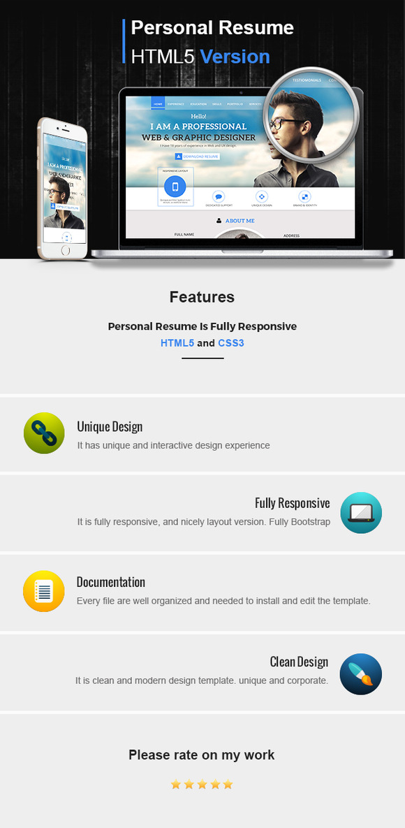 Bootstrap CV Resume