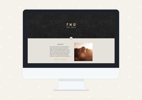 Periwinkle Premade Wordpress Theme