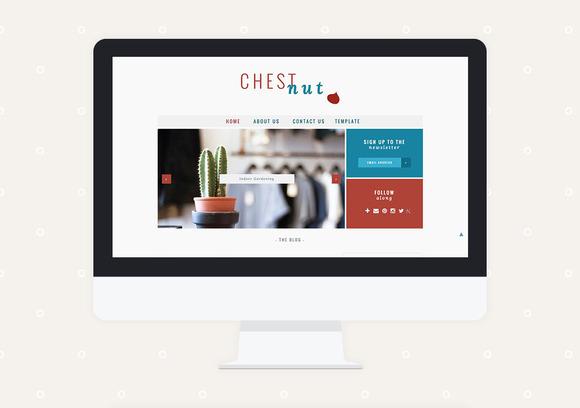 Chestnut Premade Blogger Template