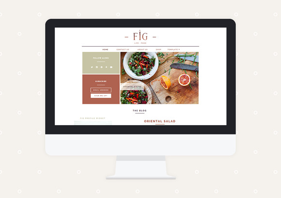 Fig Premade Blogger Template