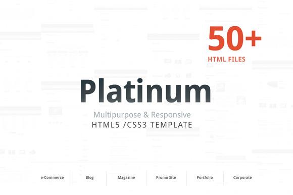 Platinum Responsive HTML Template