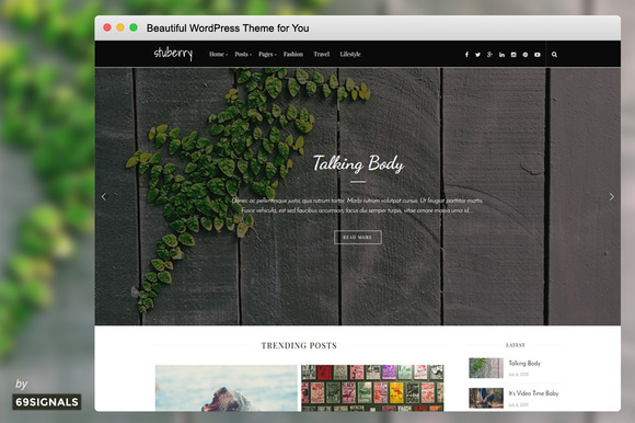 Stuberry Handcrafted For WordPress