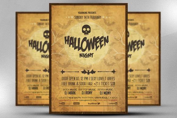 Club Sessions Flyer Frightfest Halloween Night