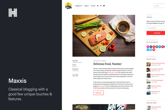 Maxxis Blog WordPress Theme