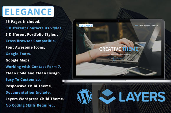 Elegance Layers WP Child Theme