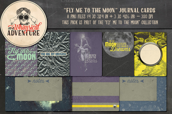 Fly Me To The Moon Journal Cards