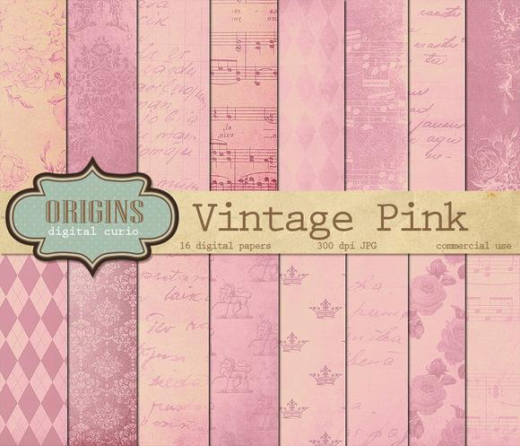 Vintage Pink Digital Paper