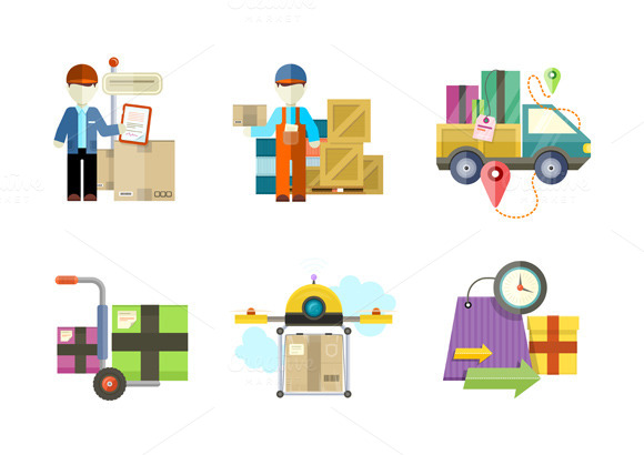 Concept Of Delivery Goods