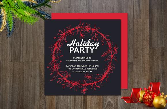 Holiday Non-Photo Invitation