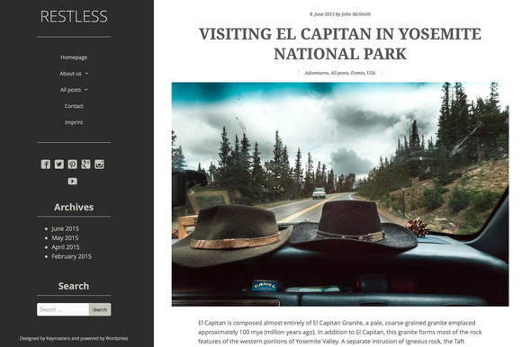 Restless WordPress Theme
