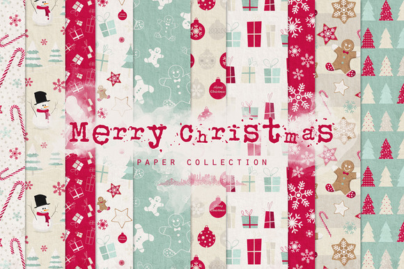 Merry Christmas Digital Papers