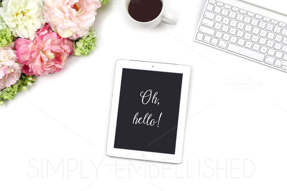 Styled Stock Photo ~ IPad Desktop