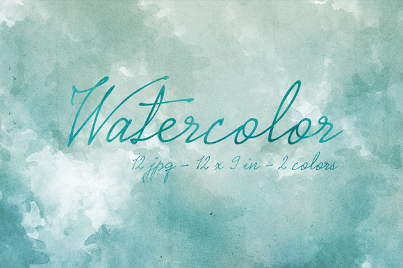 12 Blue Watercolor Backgrounds