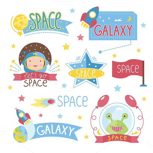 Cartoon Illustration About Space
