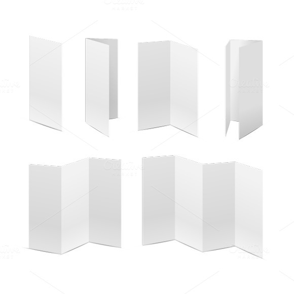 Mockup's Of Folded Paper Sheets