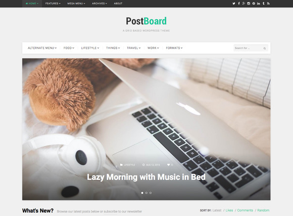 PostBoard Pinterest-like Theme