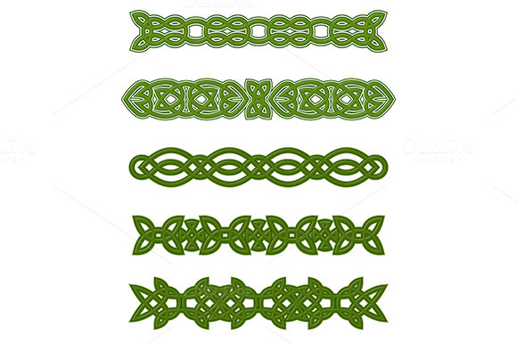Green Celtic Ornaments And Embellish
