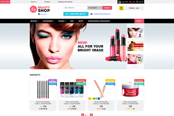 Beauty Shop Cosmetics Store