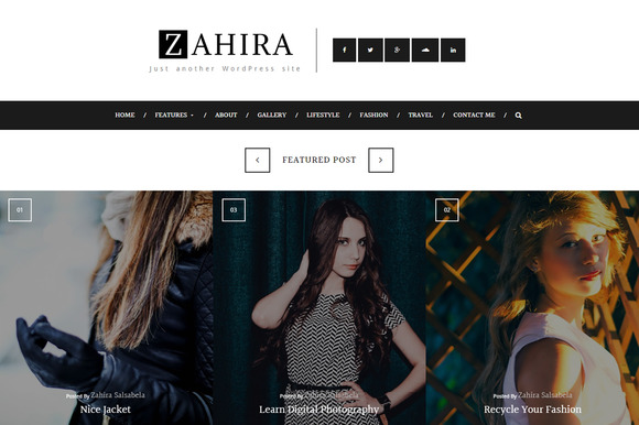 Zahira Personal WP Blog Theme