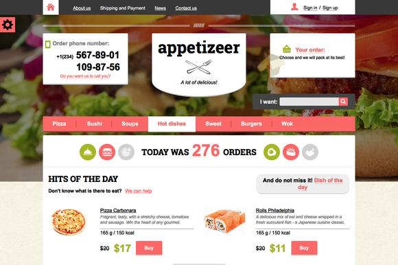 Appetizeer Food Store Template
