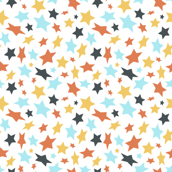 Colored Flat Stars Pattern