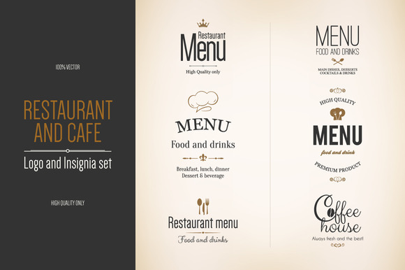 6 Food And Drinks Logos