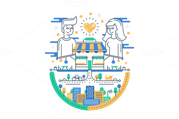 Love In The City Illustration