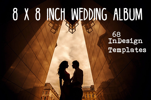 8x8 Wedding Album InDesign Template