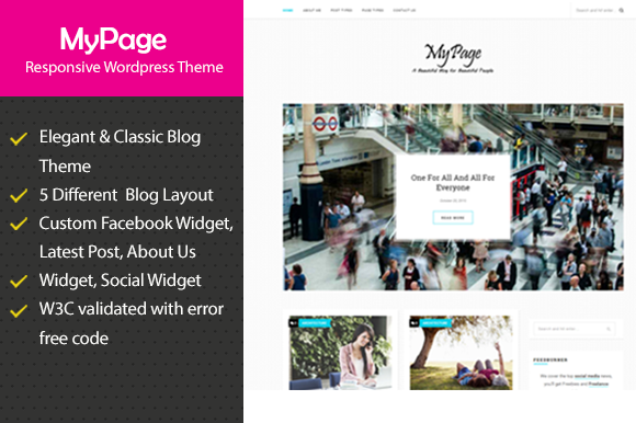 MyPage Responsive Blogging Theme