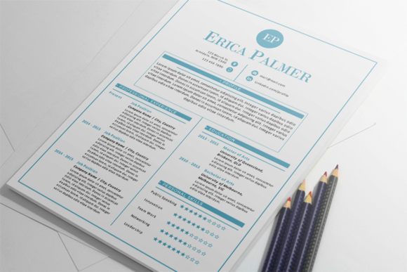 Aqua Docx Resume Cover Letter