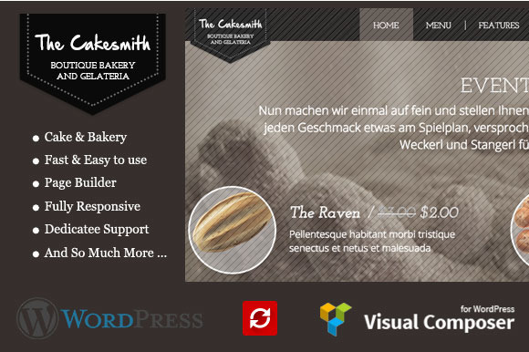CakeSmith WP Cake Bakery Theme