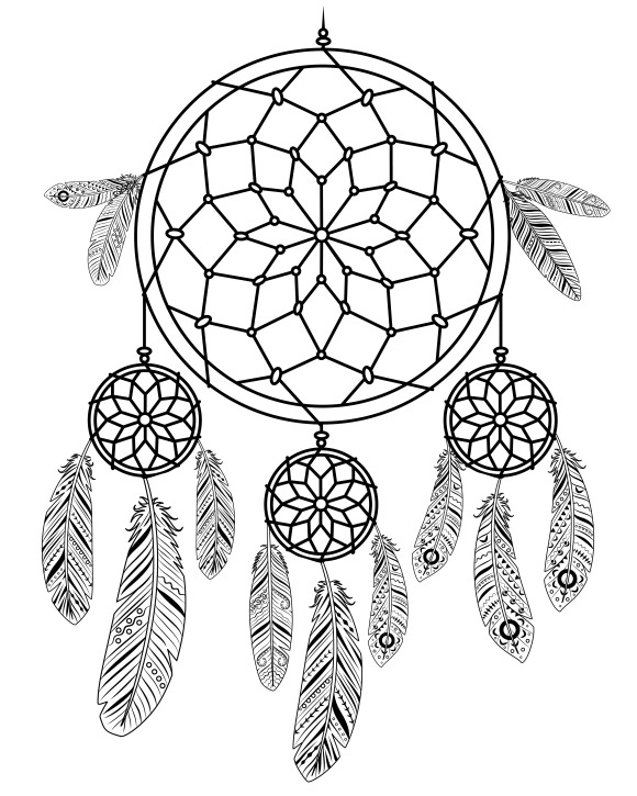 Gambar dreamcatcher designtube creative design content for Dream catcher tattoo template