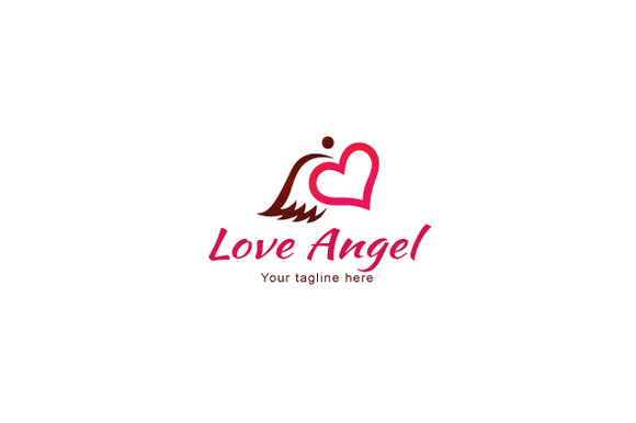 Love Angel Stock Logo Template