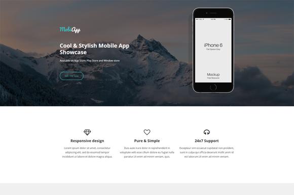 MobiApp Responsive App Template