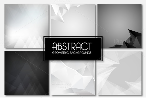 Set With Vector Abstract Backgrounds