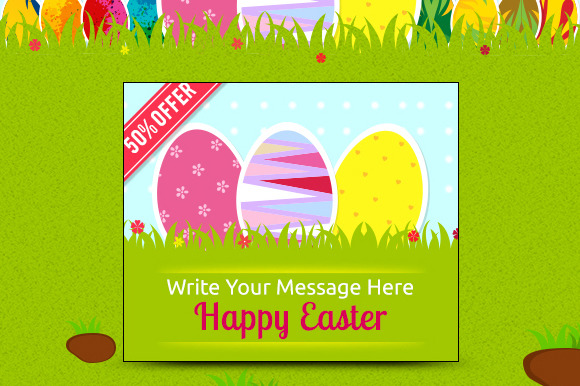 Happy Easter Banner Ads Set
