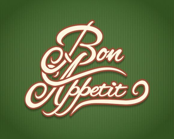 Bon Appetit Calligraphic Lettering