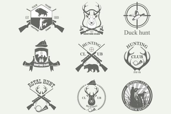 deer hunting club stock vector