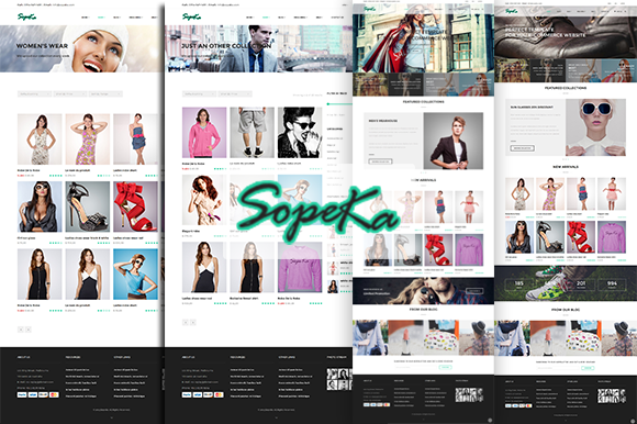Sopeka HTML CSS E-commerce Theme