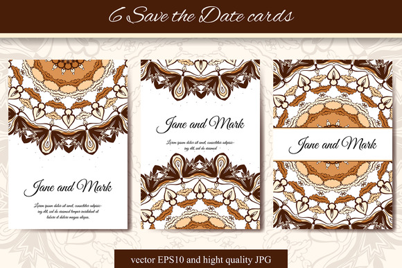 6 Save The Date Cards