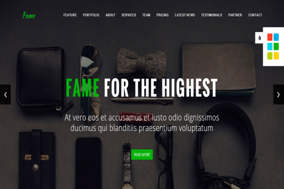 Fame Business Onepage HTML Template