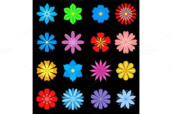 Set Of Flower Blossoms